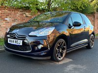 USED 2014 14 CITROEN DS3 1.6 DSTYLE PLUS 3d 120 BHP 2 OWNERS, FULL SERVICE HISTORY, MOT OCT 19, FULLY PREPARED, EXCELLENT CONDITION,  ALLOYS, CRUISE, CLIMATE, E/WINDOWS, R/LOCKING, FREE  WARRANTY, FINANCE AVAILABLE, HPI CLEAR, PART EXCHANGE WELCOME,