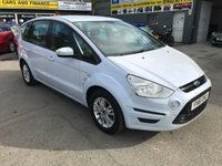 USED 2012 61 FORD S-MAX 1.6 ZETEC TDCI S/S 5d 115 BHP IN METALLIC WHITE WITH ONLY 78,000 MILES APPROVED CARS ARE PLEASED TO OFFER THIS FORD S-MAX 1.6 ZETEC TDCI S/S 5d 115 BHP IN A METALLIC WHITE WITH ONLY 78000 MILES IN GREAT CONDITION WITH A GOOD SPEC INCLUDING 7 SEATS,ALLOYS, FRONT AND REAR PARKING SENSORS AND MUCH MORE WITH A FULL SERVICE HISTORY.