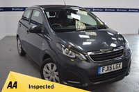 USED 2015 15 PEUGEOT 108 1.0 ACTIVE TOP 5d 70 BHP (FULL CONVERTIBLE ELECTRIC ROOF)