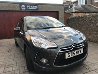 USED 2015 15 CITROEN DS3 1.2 PURETECH DSTYLE PLUS S/S 3d 109 BHP £20 TAX+B/TOOTH+P/SENSORS+FSH+MOT MAY 19