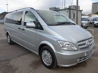 2013 MERCEDES-BENZ VITO 113 CDI 8 SEATER TRAVELINER AUTOMATIC, 136 BHP, AIR CON, ELECTRIC PACK £13995.00