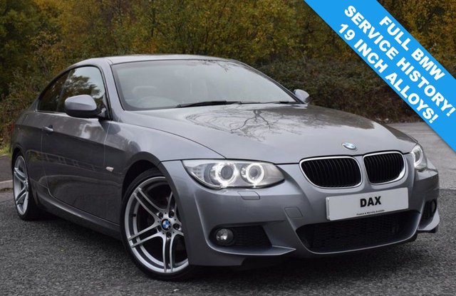 2011 61 BMW 3 SERIES 2.0 320D M SPORT 2d 181 BHP CREAM LEATHER 19 INCH ALLOYS