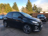 USED 2014 14 PEUGEOT 108 1.2 ALLURE 5d  WITH FULL SERVICE HISTORY, REVERSING CAMERA NO DEPOSIT ECP/HP FINANCE ARRANGED, APPLY HERE NOW