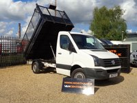 USED 2012 12 VOLKSWAGEN CRAFTER 2.0 CR35 TDI CAGE TIPPER 2d 109 BHP
