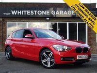 USED 2013 63 BMW 1 SERIES 1.6 116I SPORT 5d 135 BHP LOW MILEAGE, SPORT, FSH FROM BMW, CRUISE CONTROL, BLUETOOTH, PARKING SENSORS, AS NEW POLISHED ALLOYS.
