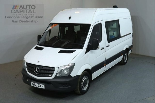 2013 63 MERCEDES-BENZ SPRINTER 2.1 313 CDI MWB 129 BHP LWB H/ROOF 8 SEATER COMBI MESS VAN FITTED WORKING TOILET & CAMERA