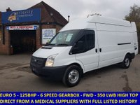 2012 FORD TRANSIT 125 350 LWB HIGH ROOF FWD FROM AN NHS SUPPLIES COMPANY £6995.00