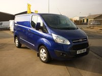 2015 FORD TRANSIT CUSTOM 2.2 270 LIMITED LR L1H1 Panel van 124 BHP £12995.00