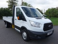 USED 2015 65 FORD TRANSIT 350 L4 Ex LWB DROPSIDE DRW 2.2 TDCI 125 PS Direct From Company Fitted With 4.2Mtr Scattolini Alloy Dropside Body, Very Clean And Original Truck Viewing Highly Recommended!