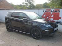 USED 2017 67 LAND ROVER DISCOVERY SPORT 2.0 TD4 HSE BLACK 5d AUTO 180 BHP ONE PRIVATE OWNER FULL LAND ROVER WARRANTY