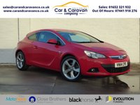 USED 2014 14 VAUXHALL ASTRA 1.4 GTC SRI S/S 3d 138 BHP Service History DAB Bluetooth 0% Deposit Finance Available
