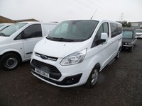 2015 FORD TOURNEO CUSTOM 2.2 300 LIMITED TDCI 5d 124 BHP £13495.00