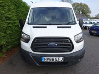 USED 2016 66 FORD TRANSIT 350 L3 H2 LWB MEDIUM HIGHTOP RWD 2.0 TDCI 130 BHP Rare Model With Air Conditioning! Direct from Company With Full Service History, Very Clean Example!
