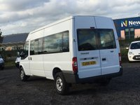 USED 2008 08 FORD TRANSIT 2.4 350 LWB 15 STR MINIBUS AC, 15 SEATER, ONLY ONE PREVIOUS OWNER, SAT NAV,