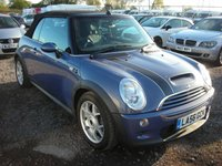 USED 2007 56 MINI CONVERTIBLE 1.6 COOPER S 2d 168 BHP Full leather - Heated front seats - Reverse sensors