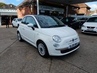 USED 2009 09 FIAT 500 1.2 LOUNGE 3d 69 BHP FULL HISTORY,AIR CON,TWO KEYS,BLUE AND ME