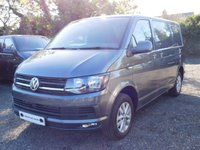 USED 2018 18 VOLKSWAGEN TRANSPORTER T30 TDI HIGHLINE SWB 150 BLUEMOTION EURO 6 Sat Nav (Discovery Media), Twin Swivel Seats, Heated Rear Window and Wash Wipe, Power Latch to Side Door, Rear Parking Camera, No Bulk Head.
