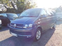 USED 2018 18 VOLKSWAGEN TRANSPORTER T32 TDI KOMBI HIGHLINE LWB 4MOTION DSG (AUTO) GEARBOX  204 BLUEMOTION EURO 6 Sat Nav (Discovery Media), Electric Folding Mirrors, Power Latch to Side Door and Rear Tailgate, Front Heated Seats, Comfort Dash, App Connect, Diff Lock, Front & Rear Parking Sensors & Rear Parking Camera & Cab Carpet.