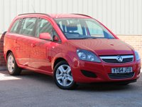 USED 2014 64 VAUXHALL ZAFIRA 1.8 EXCLUSIV 5d 120 BHP REAR PARKING SENSORS, LOW MILEAGE, FULL SERVICE HISTORY