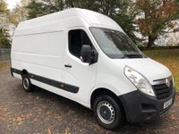 USED 2015 65 VAUXHALL MOVANO 2.3CDTI R3500 123 BHP L3H3 LWB HIGH ROOF PANEL VAN 1 OWNER+JUST SERVICED+