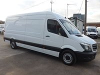 2014 MERCEDES-BENZ SPRINTER 313 CDI LWB HI ROOF, 130 BHP [EURO 5],  £SOLD