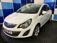 """USED 2012 62 VAUXHALL CORSA 1.2 SXI 3d 83 BHP A stunning example of this very highly regarded small family hatchback finished in totally unmarked casablanca white further enhanced with 5 spoke 16"""" alloy wheels ,comming fully serviced ,full 12 months mot equiped with all the usual refinements including elec windows and mirrors ,central locking,front and rear fog lamps ,daytime running lamps .This car looks and drives superbly definitely one to view particularly as it returns a very creditable combined ecconomy of 51.4 mpg,insurance group 6."""