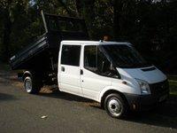 2011 FORD TRANSIT 2.4 350 DRW 1d 100 BHP TIPPER CREW CAB EX MOD £10495.00