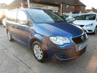 USED 2008 58 VOLKSWAGEN TOURAN 1.6 S 5d 102 BHP GOOD HISTORY,7 SEATER,TWO KEYS,CRUISE CONTROL,GOOD HISTORY