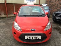 USED 2014 14 FORD KA 1.2 EDGE 3d 69 BHP Only 8,000 Miles, Only £30 Road Tax, Full Service History, 12 Mths Mot, Remote Locking, Electric Windows, Low Insurance Group.