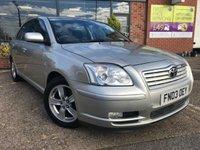 2003 TOYOTA AVENSIS 1.8 T3-X VVT-I 5d AUTO 127 BHP £2125.00