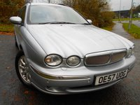 USED 2008 57 JAGUAR X-TYPE 2.2 SOVEREIGN 5d 152 BHP ** ESTATE , FULL BLACK HEATED LEATHER ,SATNAV,, ALLOYS **