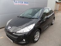 2010 PEUGEOT 207 1.4 VERVE 3d 73 BHP ONLY 29000 MILES AIR CON, REMOTE LOCKING £3495.00