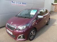 2014 PEUGEOT 108 1.2 FELINE 5d 82 BHP 10000 MILES, FULL LEATHER START STOP  £6495.00