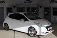 USED 2015 15 PEUGEOT 208 1.6 THP GTI 3d 200 BHP - full service history  WHITE WITH HALF LEATHER/CLOTH SPORT SEATS + F S H + DAB RADIO + PARK ASSIST + PARKING SENSORS + PRIVACY GLASS + BLUETOOTH + CRUISE CONTROL + AIR CON + 17 ALLOYS