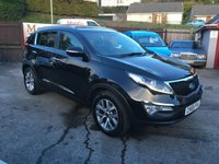 USED 2015 65 KIA SPORTAGE 1.7 CRDI AXIS EDITION ISG 5d 114 BHP ONE OWNER, SAT NAV, REVERSE CAMERA, HALF LEATHER, HEATED SEATS