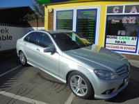 USED 2009 09 MERCEDES-BENZ C CLASS 2.1 C220 CDI SPORT 4d AUTO 168 BHP JUST ARRIVED FULL BLACK LEATHER