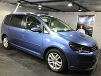USED 2012 12 VOLKSWAGEN TOURAN 1.6 SE TDI BLUEMOTION TECHNOLOGY 5d 103 BHP Family 7-Seater  :  Bluetooth  :  Cloth upholstery  :  VW Park Assist System (self-parking)  : Front + rear parking sensors  :  Cambelt recently replaced  :  Fully stamped service history