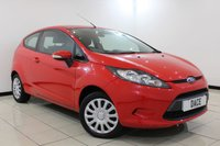 USED 2009 59 FORD FIESTA 1.2 EDGE 3DR 59 BHP SERVICE HISTORY + AIR CONDITIONING + MULTI FUNCTION WHEEL + RADIO/CD + ELECTRIC WINDOWS + AUXILIARY PORT + ALLOY WHEELS