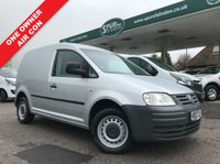 USED 2007 07 VOLKSWAGEN CADDY 1.9 C20 TDI SWB 1d 103 BHP One Company Owner, Air Conditioning, Silver Metallic, Side Loading Door.