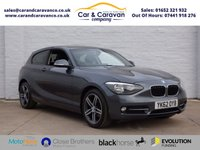 USED 2012 62 BMW 1 SERIES 1.6 116I SPORT 3d 135 BHP All BMW History Bluetooth A/C Buy Now, Pay Later!
