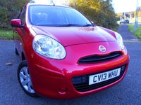 2013 NISSAN MICRA 1.2 30 VISIA 5d 79 BHP ** 1 PREVIOUS OWNER , YES ONLY 21K, £30 ROAD TAX , SUPERB VEHICLE ** £5495.00