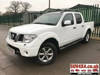 USED 2009 59 NISSAN NAVARA 2.5 DCI TEKNA 4X4 DCB 1d 169 BHP SAT NAV LEATHER NO VAT NO VAT. 4WD. SATELLITE NAVIGATION. STUNNING WHITE WITH FULL GREY LEATHER TRIM. ELECTRIC HEATED SEATS, CRUISE CONTROL. AIR CON. SIDE STEPS. 17 INCH ALLOYS. COLOUR CODED TRIMS. PRIVACY GLASS. SUN ROOF. BLUETOOTH PREP. ROOF RAILS. PAS. R/CD PLAYER. MFSW. TOWBAR. MOT 08/19. SERVICE HISTORY. RECENT CLUTCH/FLYWHEEL FITTED. AGE/MILEAGE RELATED SALE. PICK-UP & VAN CENTRE- LS23 7FQ. TEL 01937 849492 OPTION 3