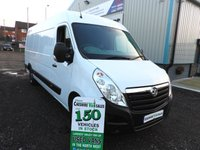 2015 VAUXHALL MOVANO 2.3 R3500 L4H2 CDTI 135BHP JUMBO 1 OWNER FROM NEW  £9595.00