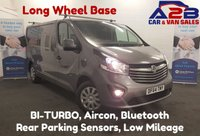 USED 2015 64 VAUXHALL VIVARO 1.6 2900 SPORTIVE 120 BHP BI-TURBO Long Wheel Base, 43,105 Miles, Air Con, Cruise Control, Bluetooth, Ply Lined *Over The Phone Low Rate Finance Available*   *UK Delivery Can Also Be Arranged*