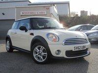 2012 MINI HATCH ONE 1.6 ONE 3d 98 BHP £5995.00