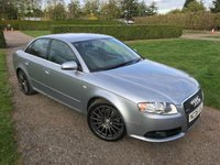 USED 2006 06 AUDI A4 2.0 T S LINE SPECIAL EDITION 4d 217 BHP FSH + Cambelt + Mint! Full Service History, MOT 10/19, Full S Line Crested Leather Upholstery, Rare Special Edition, Blistering Performance And Handling, Truly Stunning Unmarked Example, Anthracite18in Alloys, X2 Keys, Heated Seats, Front And Rear Armrests, Dual Zone Climate Aircon, Alloy Pedals, SLine Multifunctional Steering Wheel, Voice Command, Full Onboard Trip Computer, X4 Recent Tyres, Recent Front And Rear Discs And Pads, x4 Recent New shock Absorbers, £££££ Spent In Last 2 Years, Seriously Straight, CleN And