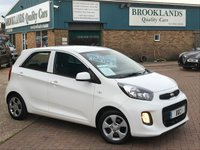 2016 KIA PICANTO 1.0 1 5 Door Clear White with Grey Cloth 65 BHP £6295.00