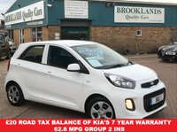 USED 2016 16 KIA PICANTO 1.0 1 5 Door Clear White with Grey Cloth 65 BHP £20 Road tax Balance of Kia's 7 year warranty 62.8 MPG Group 2 Ins