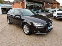 USED 2012 62 AUDI A3 1.6 TDI SE 5d 103 BHP FULL AUDI HISTORY,TWO KEYS,CHEAP TO RUN,AIR CON
