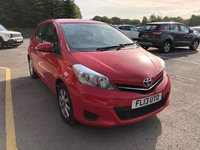 USED 2013 13 TOYOTA YARIS 1.0 VVT-I TR 5d 68 BHP 1 Owner, Full Toyota Service History, serviced in May 2014 at 4,951 miles, May 2015 at 9,790 miles, May 2016 at 14,613 miles, May 2017 at 18,833 miles and May 2018 at 23,855 miles, MOT until 9th May 2019. Reversing camera, Air Conditioning, Leather Multi functional Steering Wheel, Electrically Operated Front windows, Electrically Operated Wing Mirrors. and 2 Keys. Nationwide Delivery Available. Finance Available at 9.9% APR Representative.